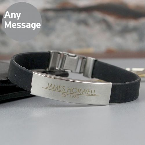 Classic Stainless Steel Men's Black Bracelet